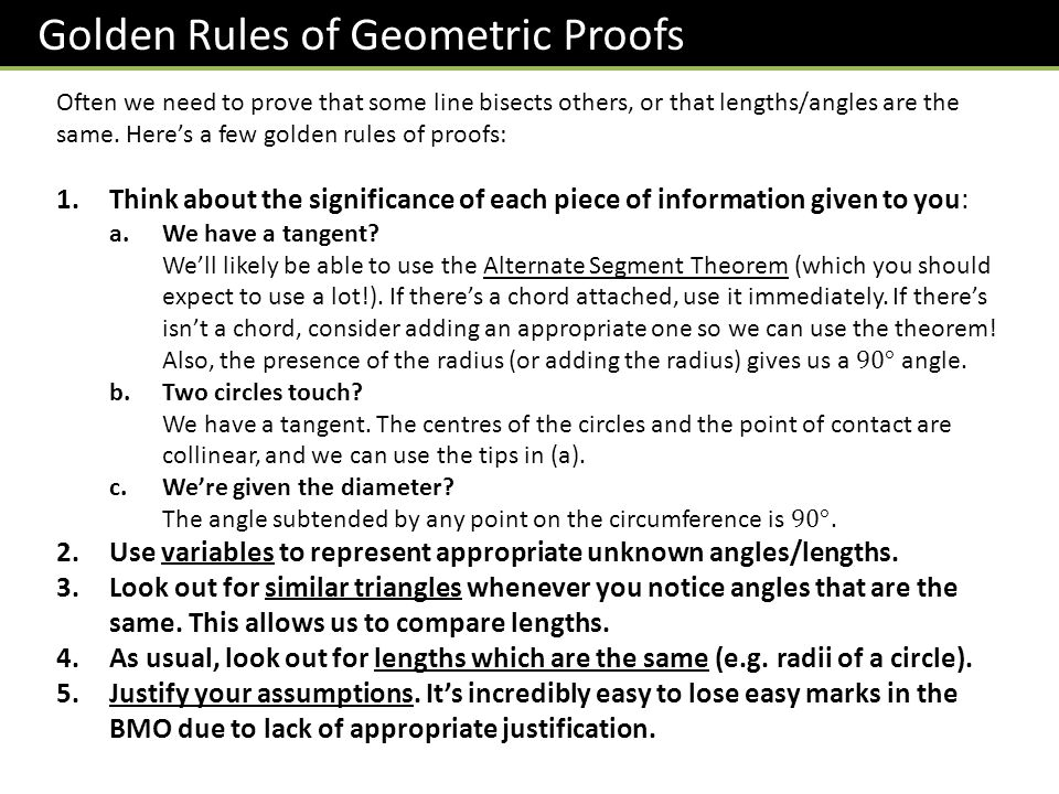 justification of geometry proofs Reteach 2-6 geometric proof to write a geometric proof, start with the hypothesis  write a justification for each step proof: 1 n is the midpoint of _.