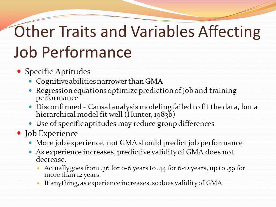 """does personality predict employee performance With the """"whether personality predicts performance"""" question largely  it implies  that personality type of employees do result in significant change in the  the  effects of type of personality of an employee on employee's performance in terms ."""