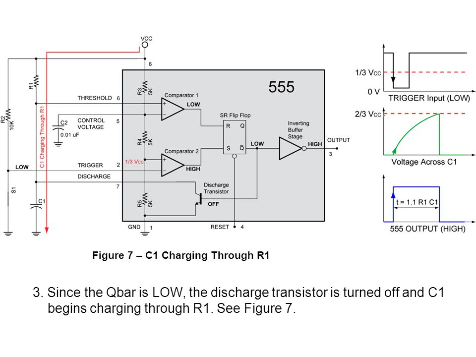 begins charging through R1. See Figure 7.