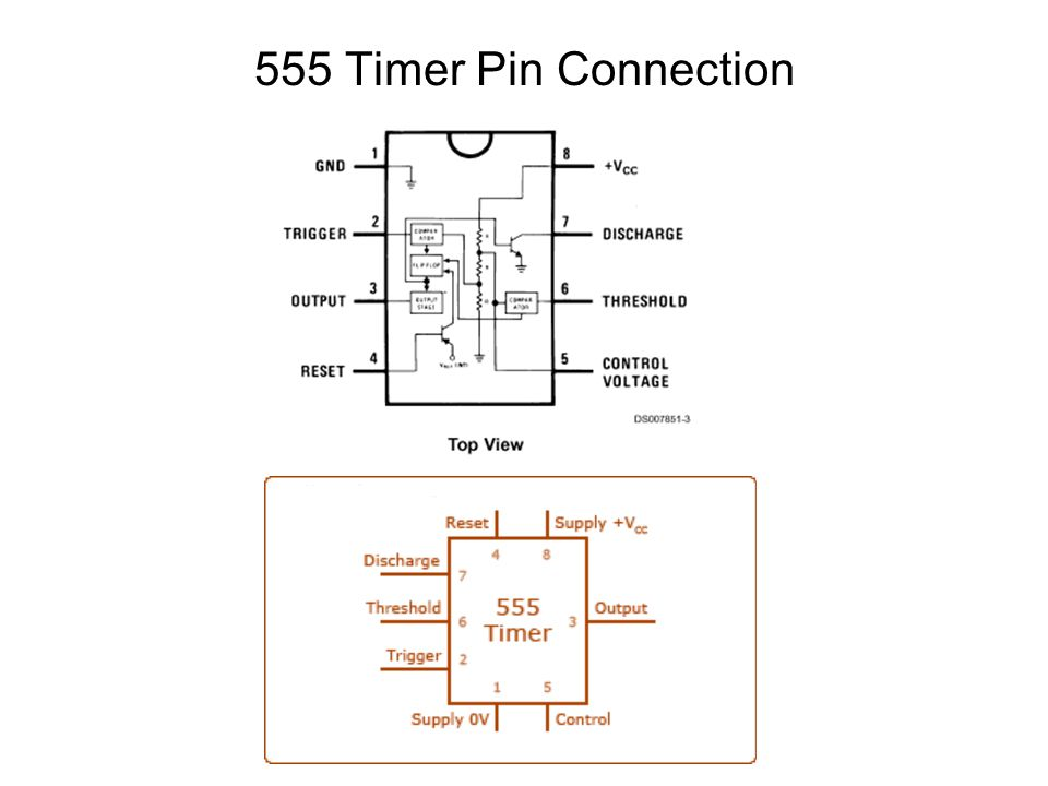 555 Timer Pin Connection