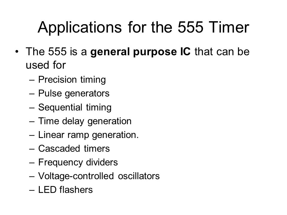 Applications for the 555 Timer