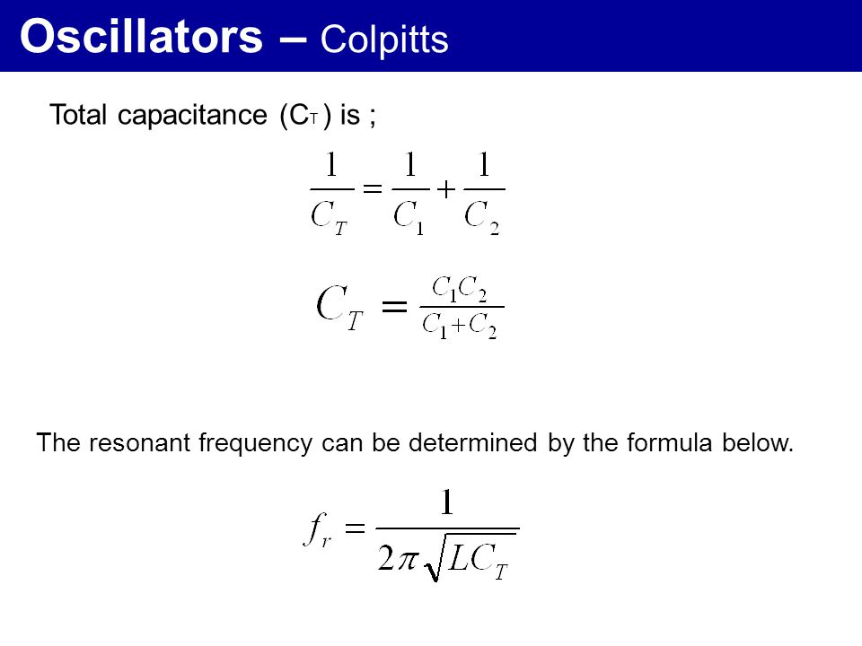 Oscillators – Colpitts