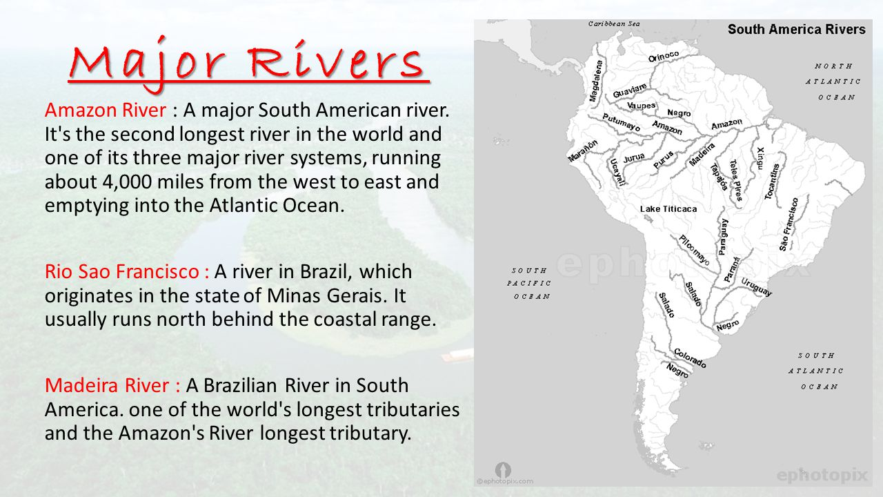 SOUTH AMERICA Session Ppt Download - Most important rivers in the world