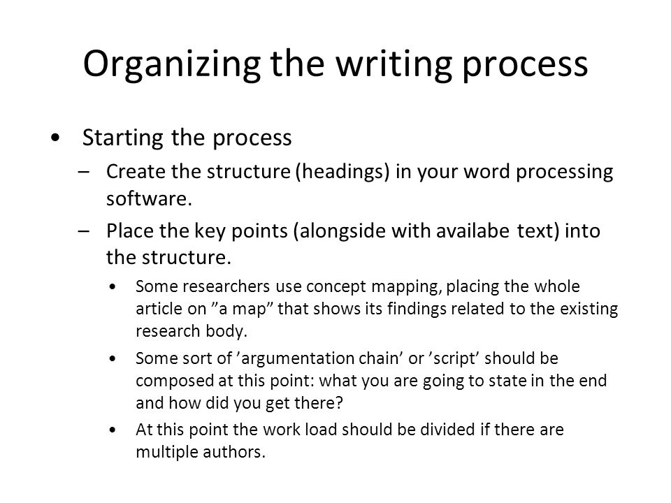 process of script writing Here's how to write a screenplay the way work on a script, and then, in the production process characters at every stage in the writing process.