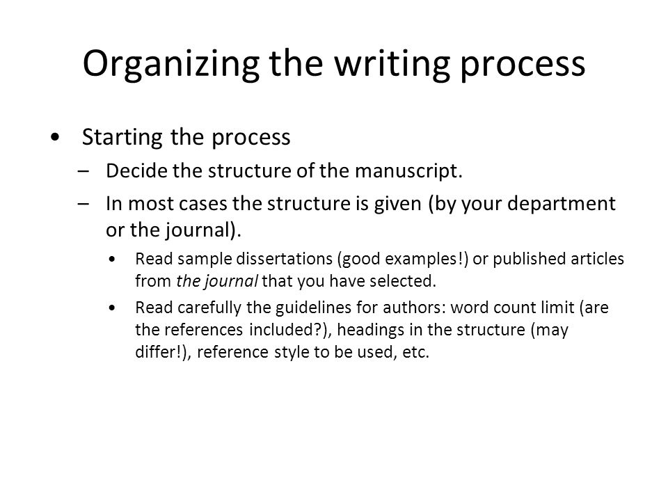 Organizing dissertation references