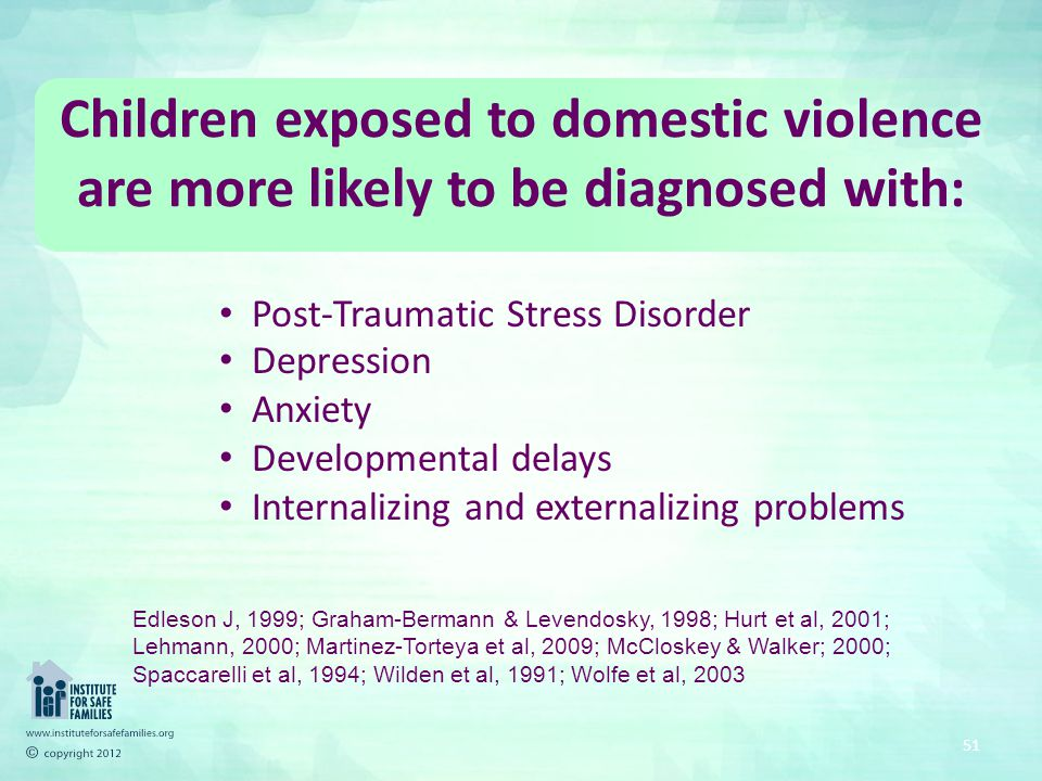Children's Exposure to Violence - Community Violence, Domestic Violence - GENERAL EFFECTS