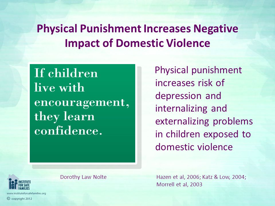physical punishment of children essay Contrary to what generations of parents have experienced in their own childhood, physical punishment is not an effective method to use when rearing children.