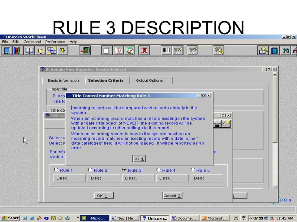 RULE 3 DESCRIPTION