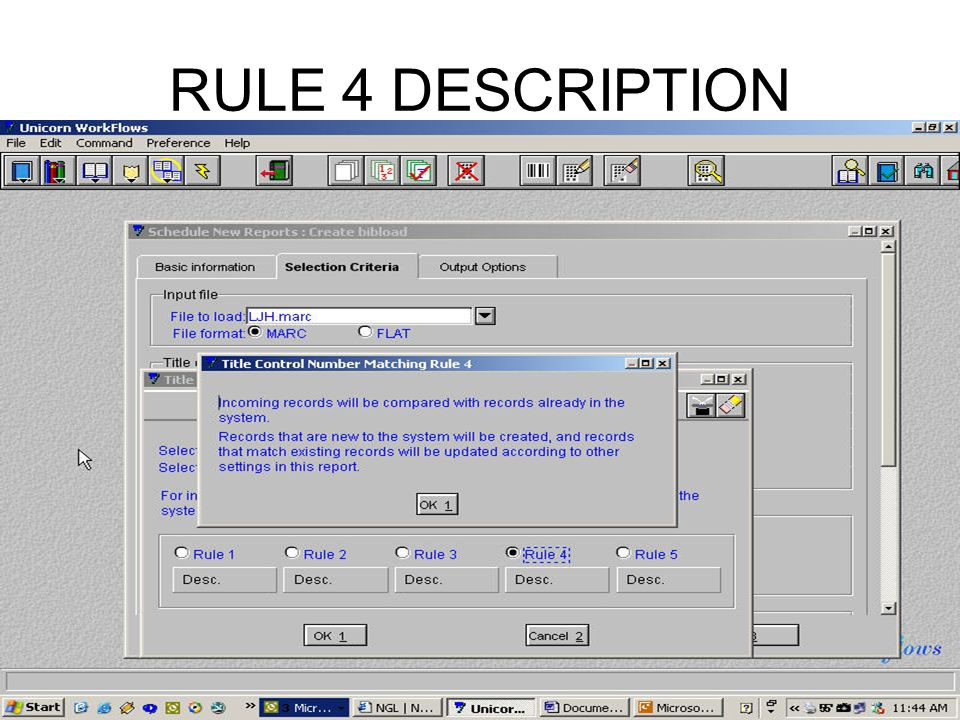 RULE 4 DESCRIPTION