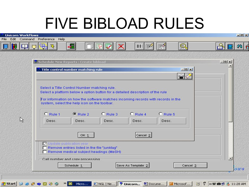 FIVE BIBLOAD RULES