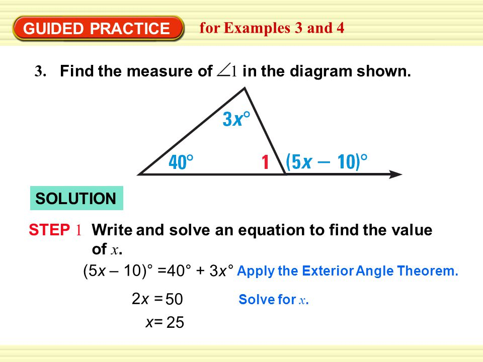 Write And Solve An Equation To Find The Value Of X Ppt Video Online Download