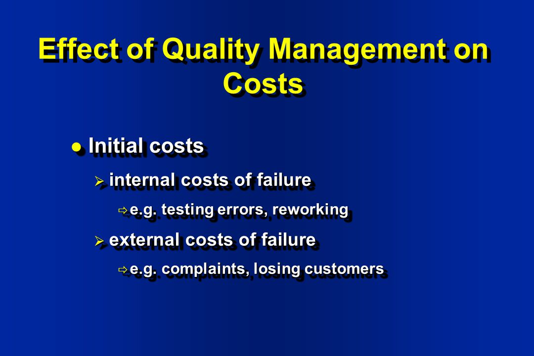 effects of quality management on southwest Effects of quality management on domestic and global competition quality management has effects on the domestic and global competition associated with the airline industry while southwest and lufthansa are both airline companies with similar goals they each have a different process or procedure that they abided by that keeps the company effective.
