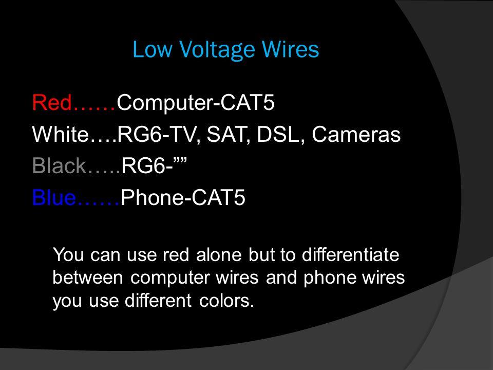 Low Voltage Wires Redu2026u2026Computer-CAT5 Whiteu2026.RG6-TV  sc 1 st  SlidePlayer : red white black wiring - yogabreezes.com