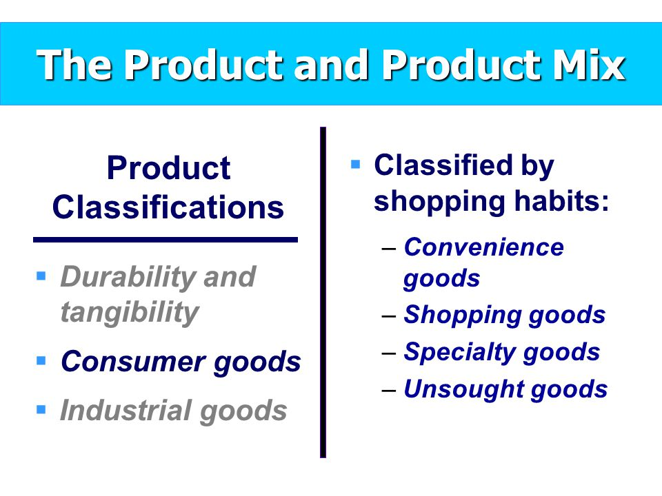 Food Products Would Be Classified As Nondurable Goods