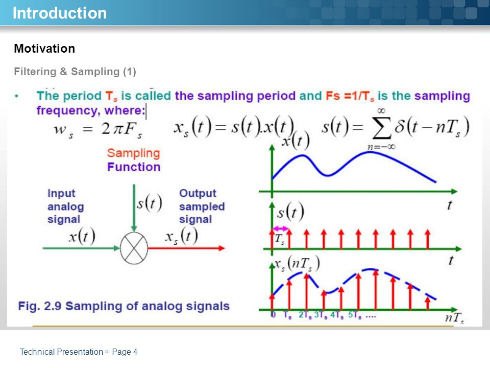 Introduction Motivation Filtering & Sampling (1)
