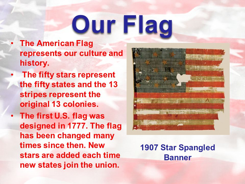 Stars stripes and symbols of america ppt download for The american flag history