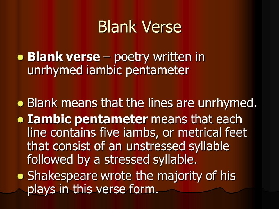 how to write a story in iambic pentameter