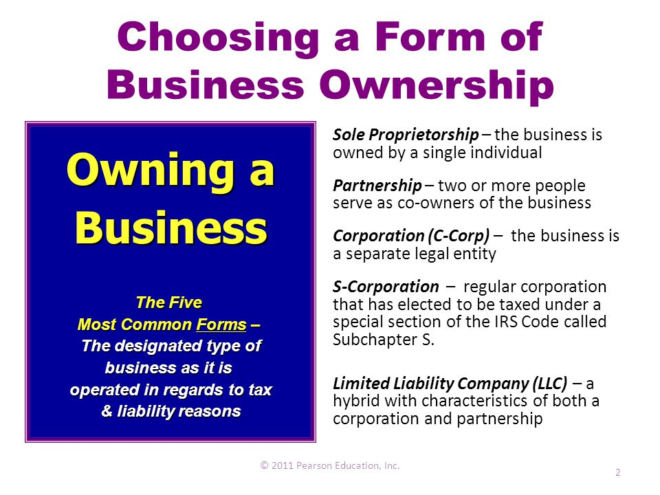 Legal Forms Of Business Ownership Ppt Daily Instruction Manual - Corporation legal form