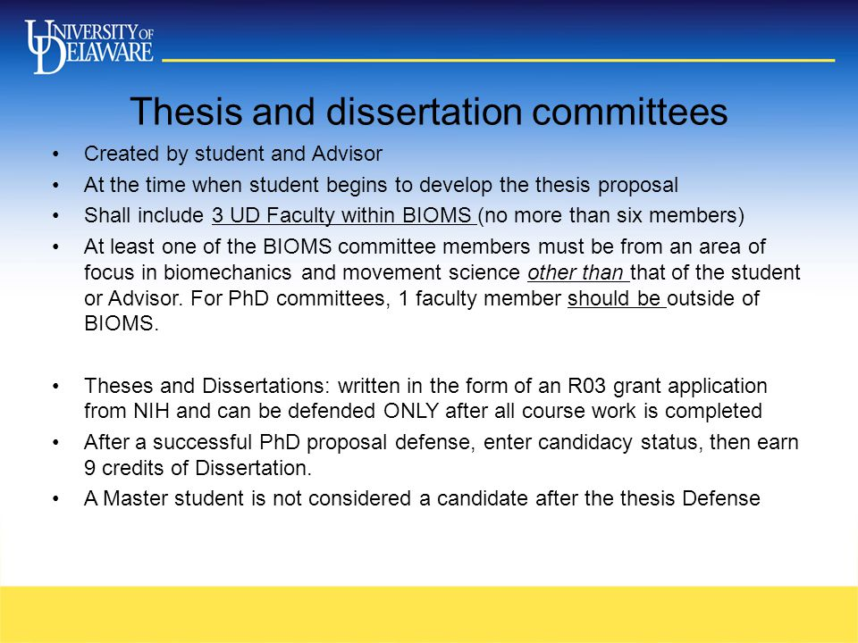 request for thesis committee