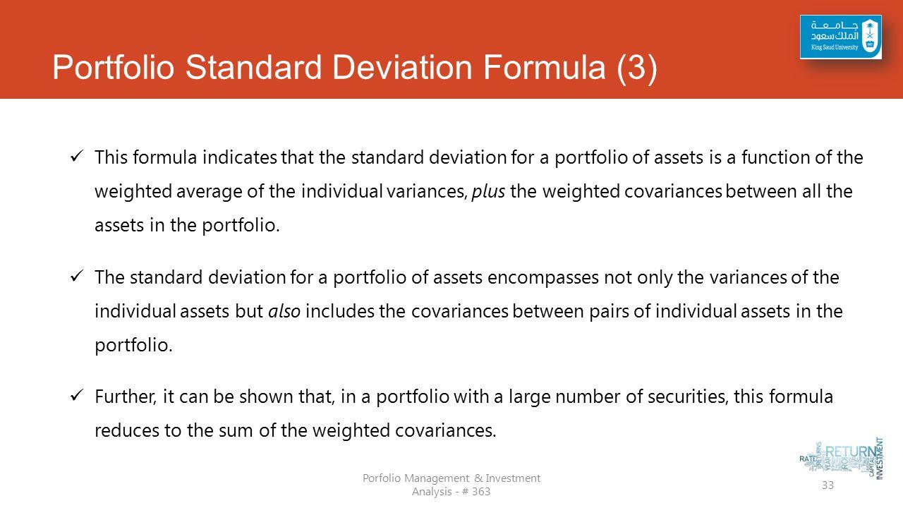 Portfolio Standard Deviation Formula (3)