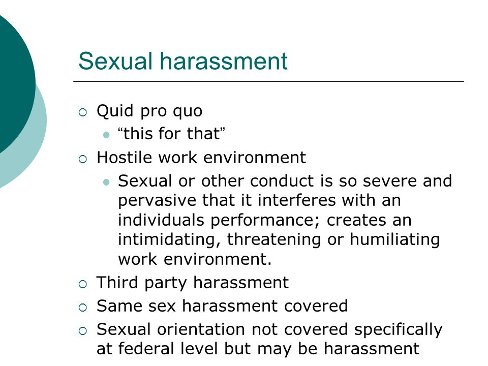 sexual harassment - Equal Employment Opportunity Commission