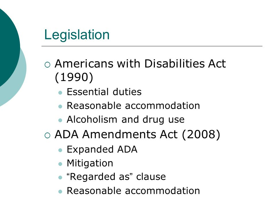 an analysis of the impact of the disabilities act of 1990 on americans Download citation | the americans with d | this paper outlines the americans with disabilities act of 1990 (ada) and explores the extensive impact the ada legislation has had on.