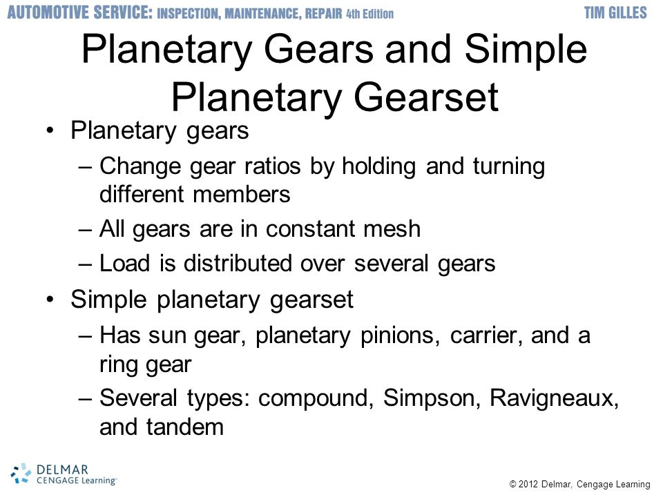 Automatic transmission fundamentals ppt video online download planetary gears and simple planetary gearset sciox Image collections