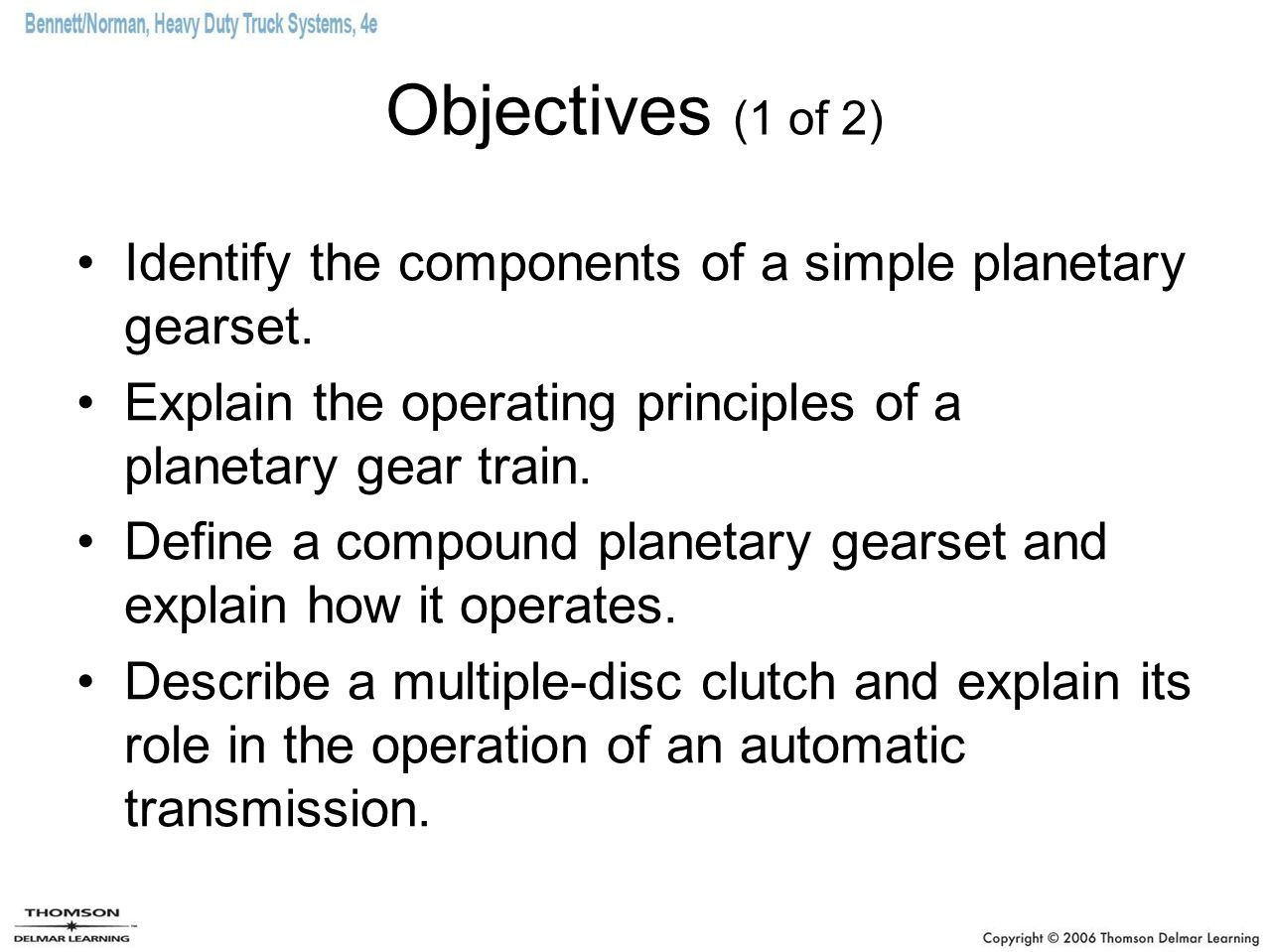Automatic transmissions ppt download objectives 1 of 2 identify the components of a simple planetary gearset explain sciox Image collections