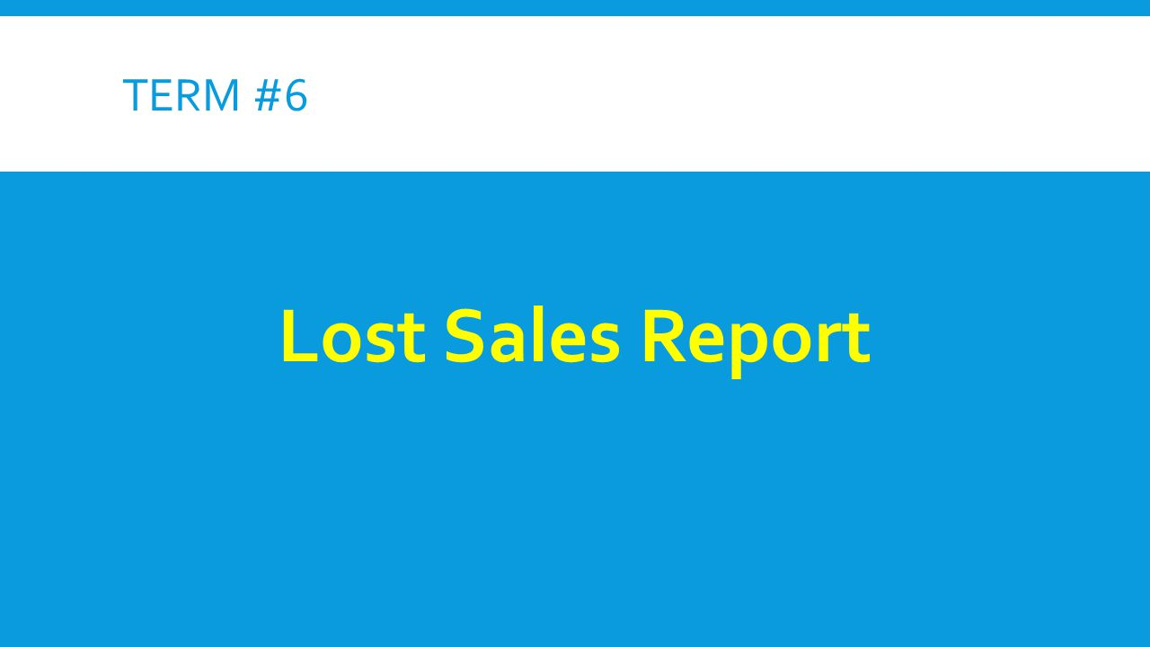lost sales forecast Then, before forecasting, we have to remove outliers from the sales history one reasonable way to automatically do that is by analyzing every single sales point with respect to the entire sales history for example, if in months 1, 2, 4, 5 you sold 100, 200, 400, 500 units and in month 3 you sold 50 units, probably something strange happened.