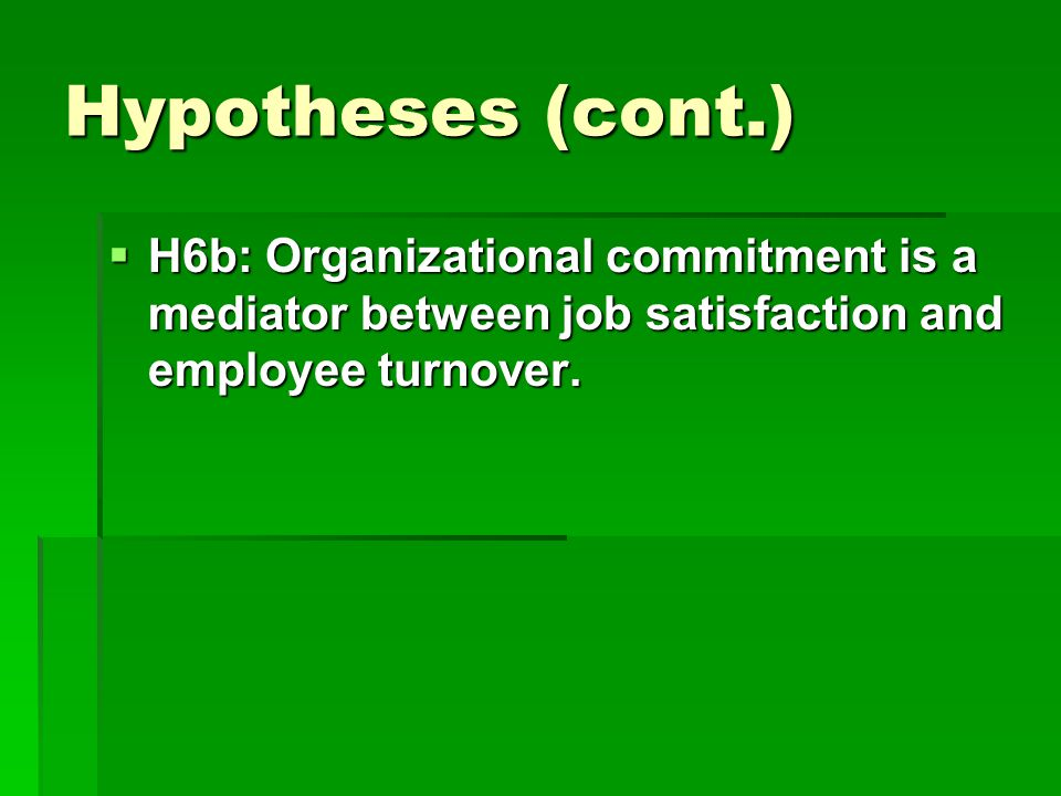 impact of organizational commitment on turnover 1 abstract this study investigates the impact of managerial coaching on employees' organizational commitment and turnover intention in malaysia.