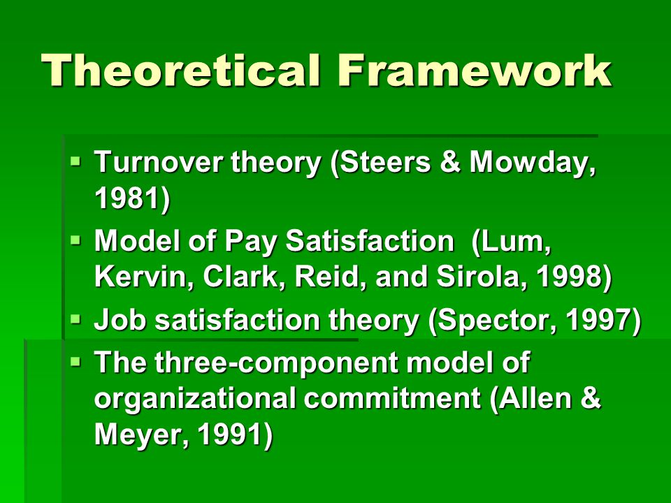 literature review on job satisfaction and organizational commitment Study is mainly based on review of existing literature and job satisfaction, organizational commitment, and to a lesser extent, job performance.