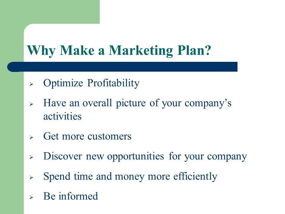 Why Make a Marketing Plan