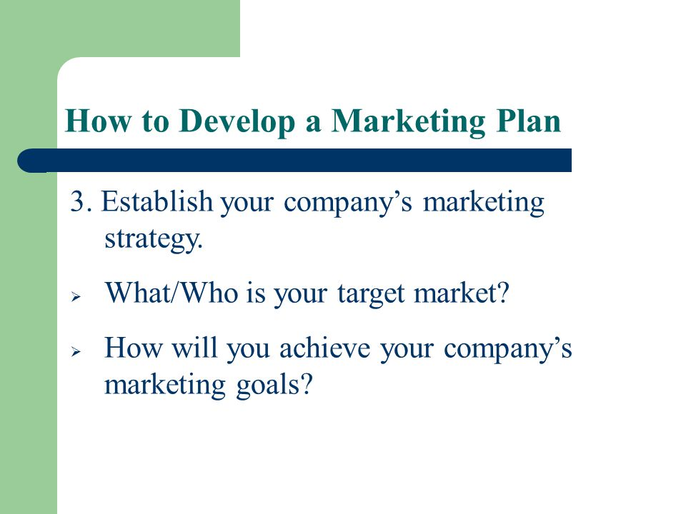How to Develop a Marketing Plan