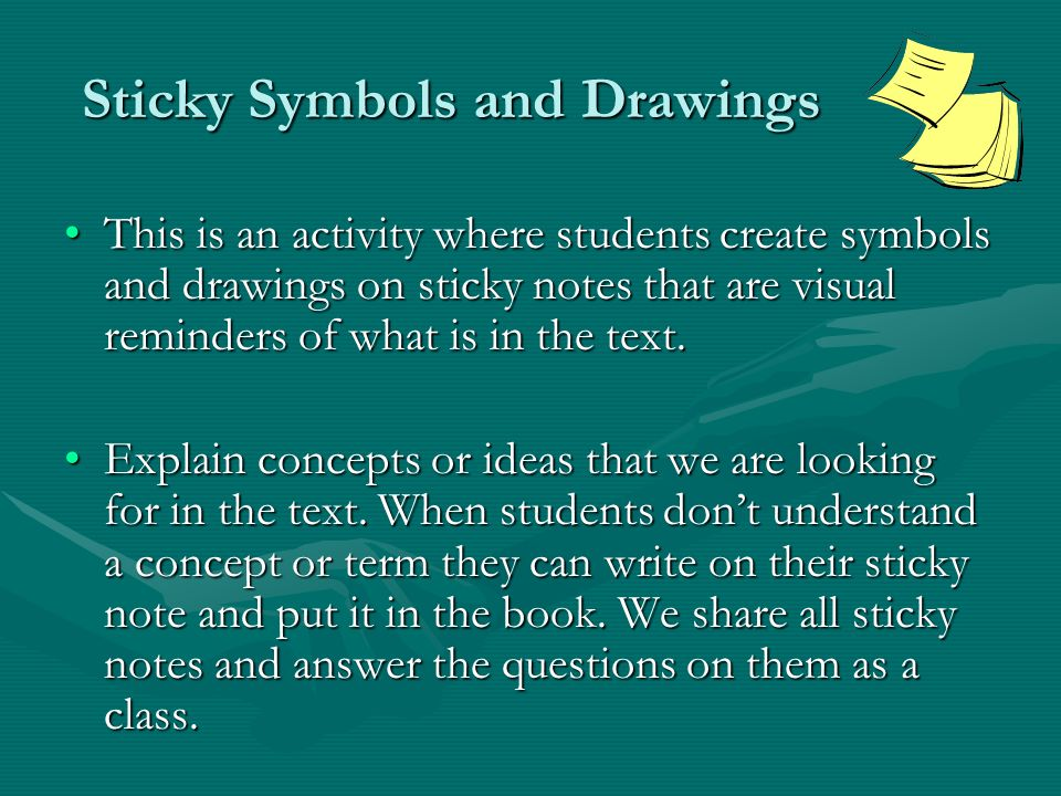 Sticky Symbols and Drawings