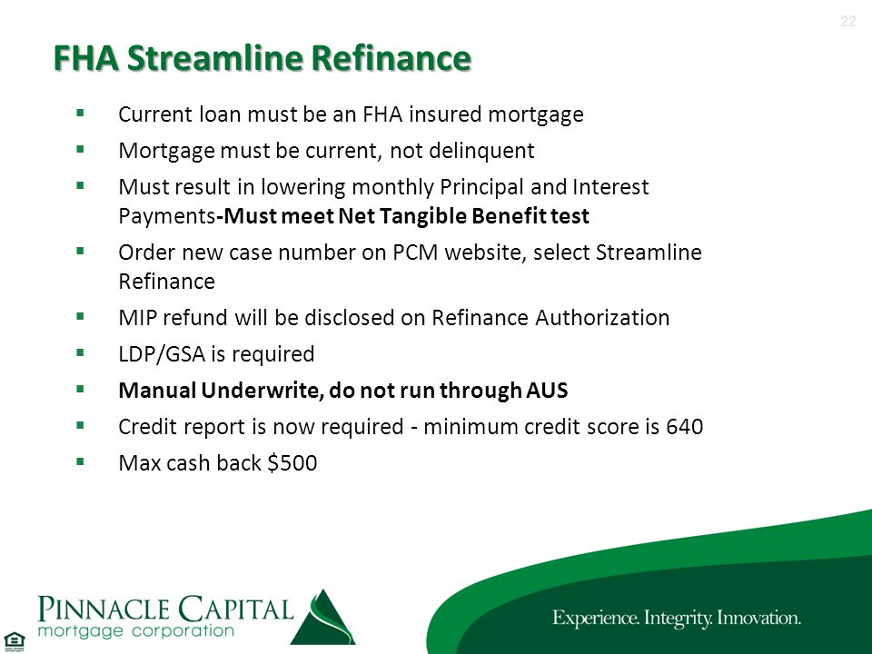 Meet Our DE Underwriters ppt download – Fha Streamline Refinance Calculator Worksheet
