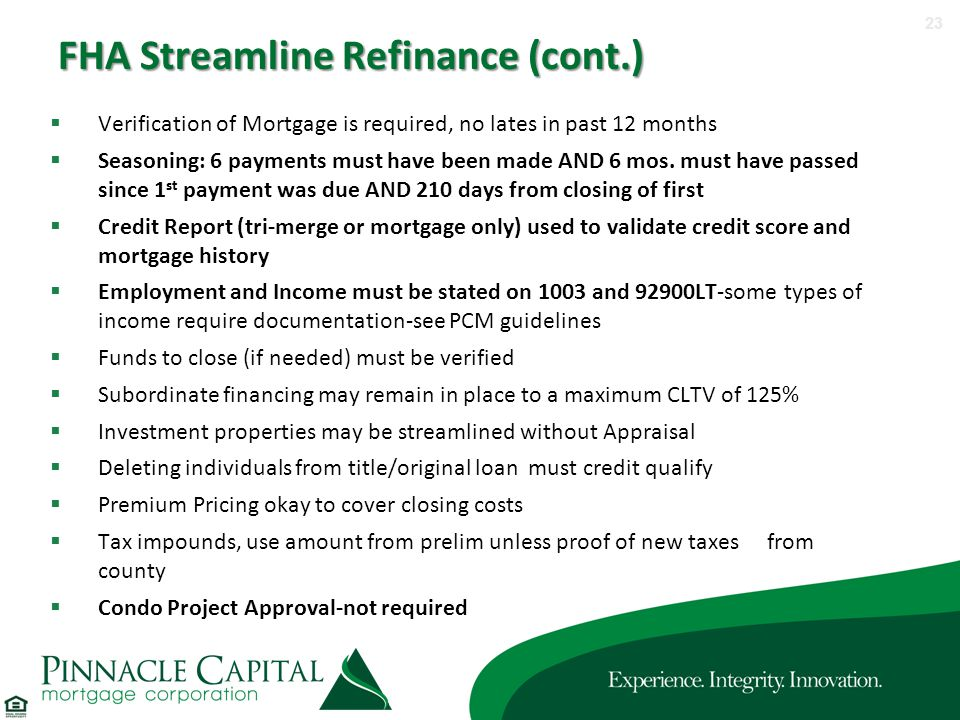 Fha streamline worksheet without appraisal