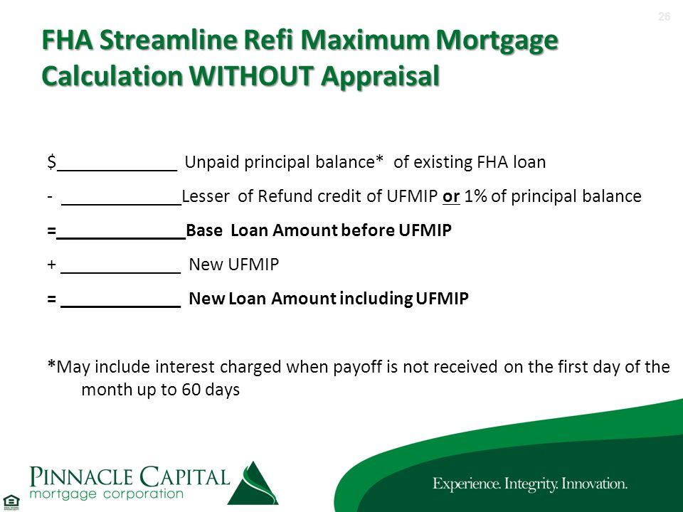 Fha streamline worksheet without appraisal 2014