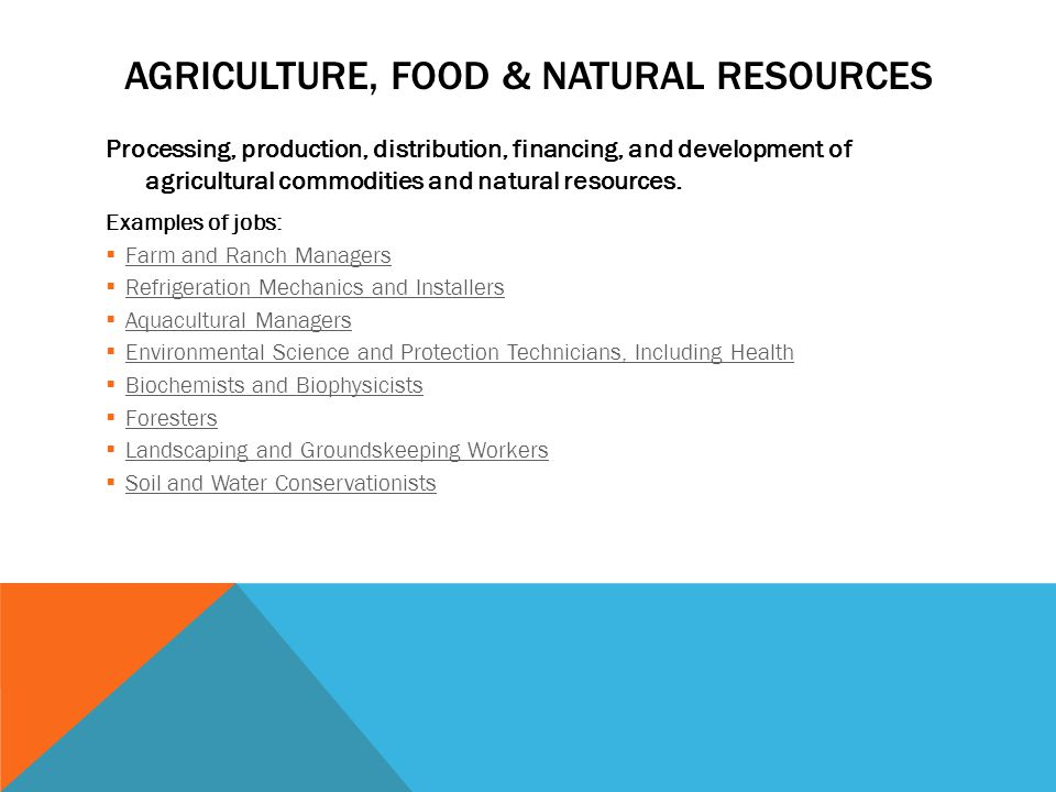 Agriculture Food Natural Resources Jobs