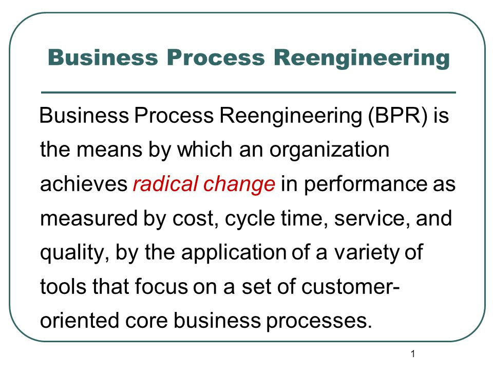 business process reengineering in service sector 89 business process reengineering (bpr) initiatives in public sector of pakistan muhammad nauman habib1, dr waseef jamal2 abstract this study examined three cases from the service sector to .