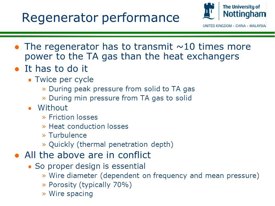Regenerator performance