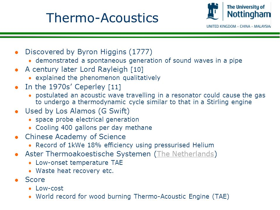 Thermo-Acoustics Discovered by Byron Higgins (1777)