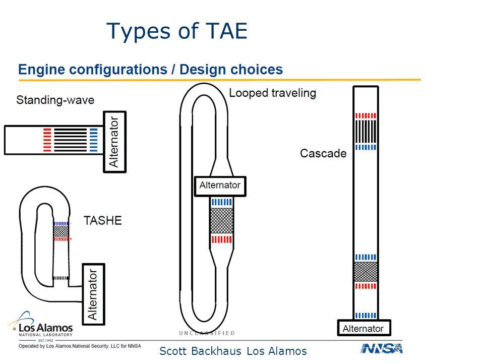 Types of TAE Scott Backhaus Los Alamos