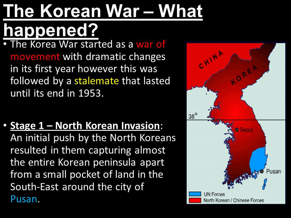 A history of the korean war and its causes