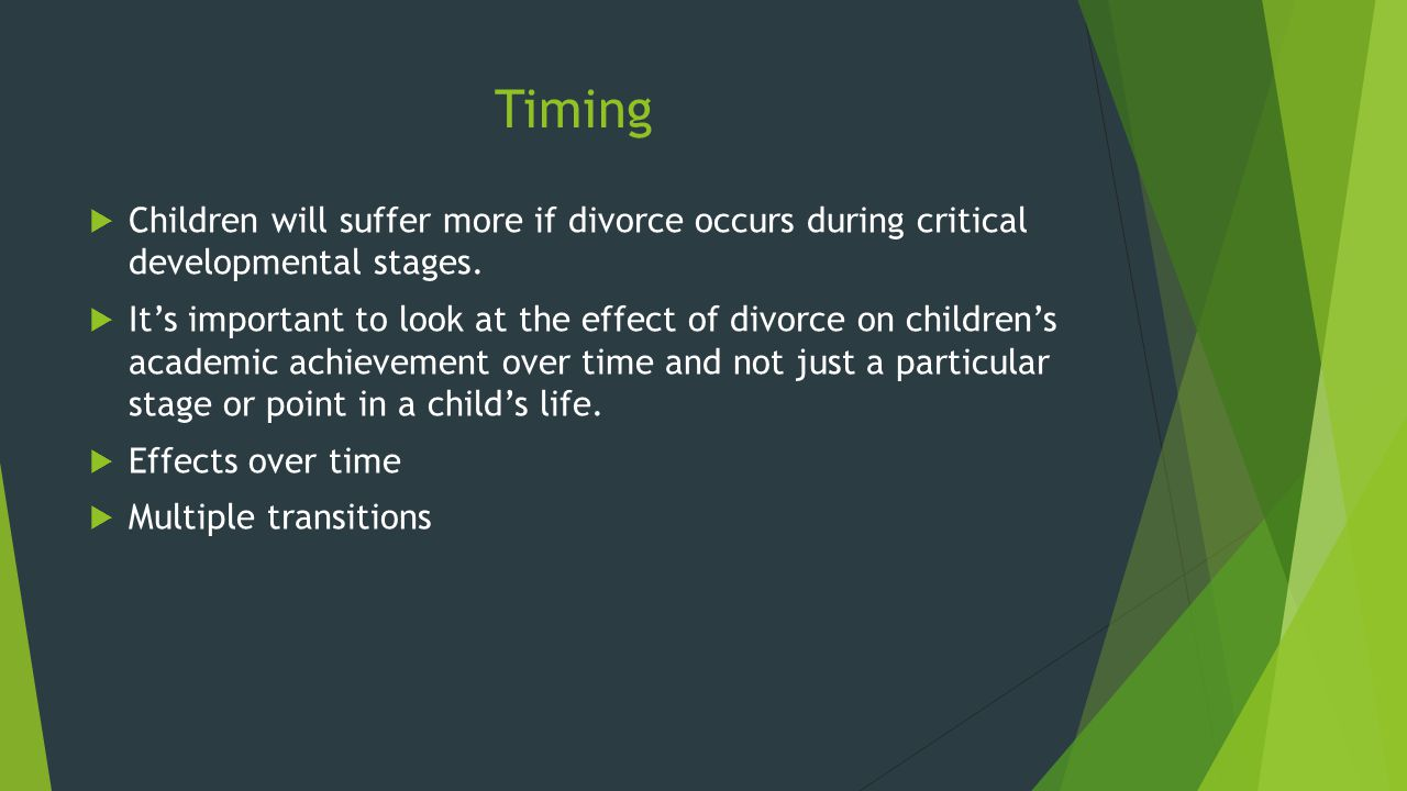 how does divorce affect a child's