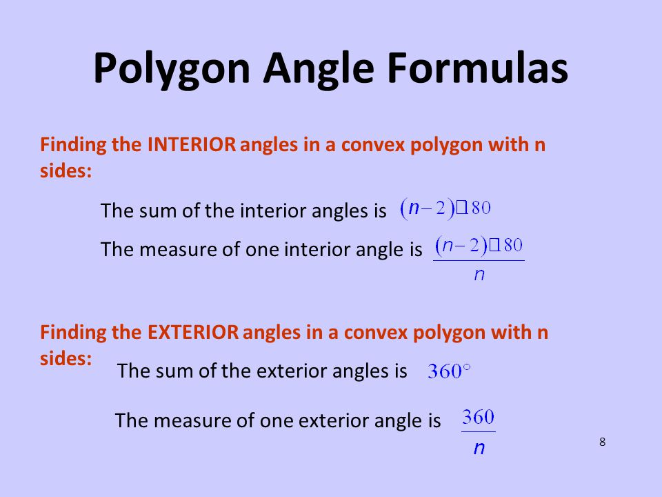 Polygons keystone geometry ppt video online download for Exterior angles of a polygon formula