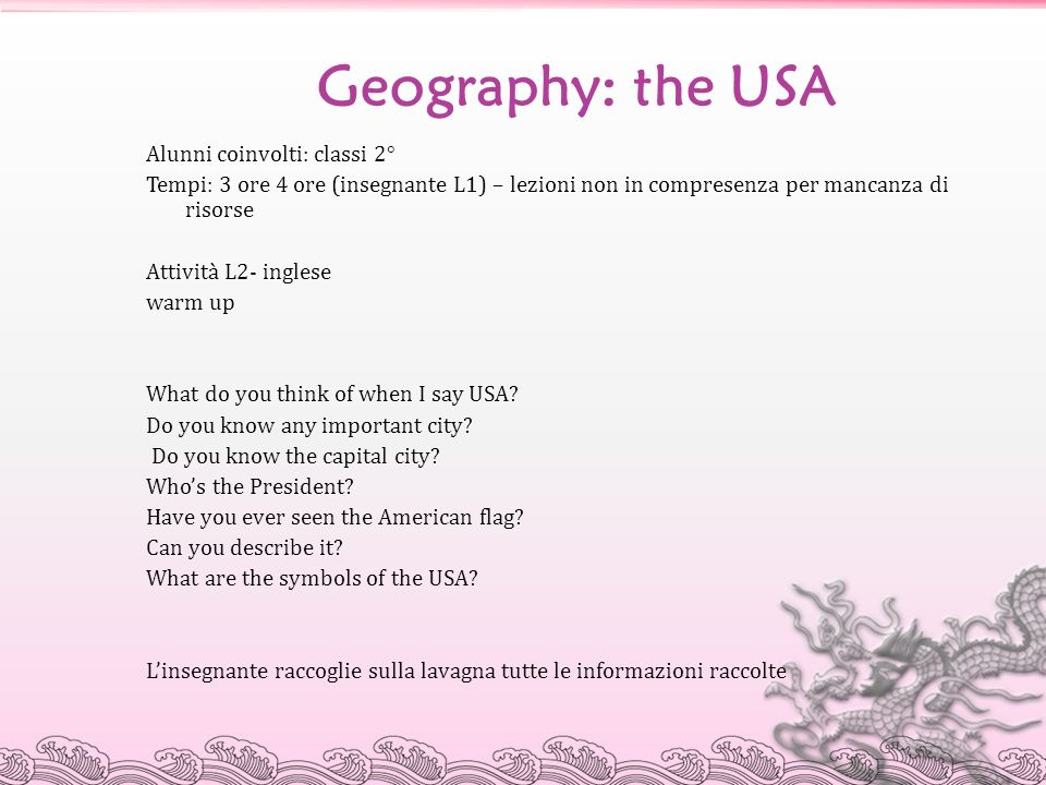 Geography: the USA