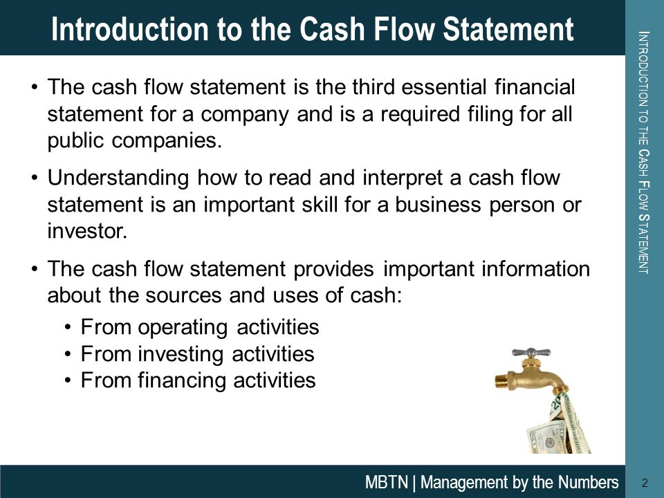 Cash Flow Statement This Module Provides An Introduction To The