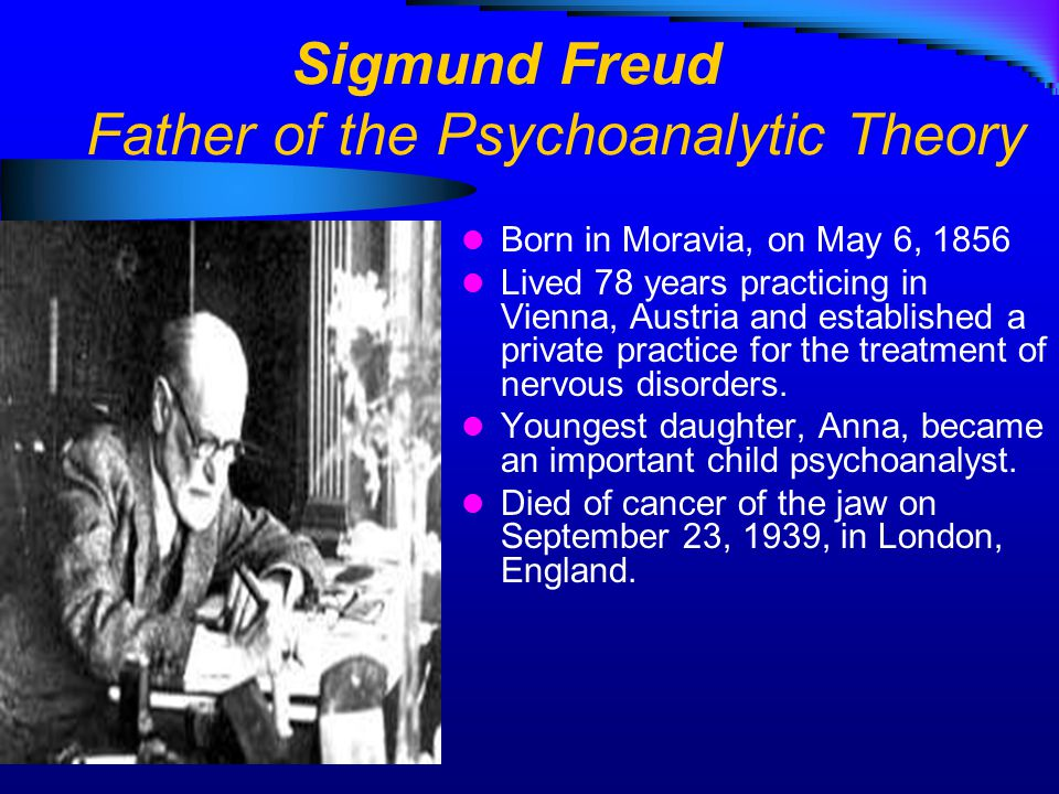 from Zayne psychoanalytic theory sigmund freud