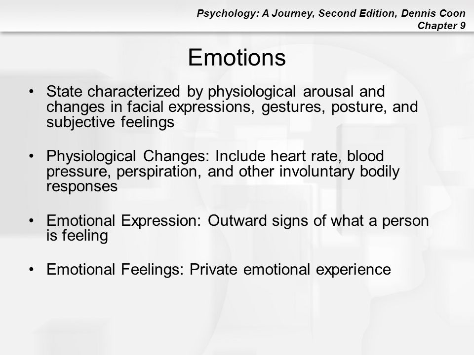 an overview of the sources of arousal motivation and emotional arousal Overview motivation arousal theory you just finished chapter 8: motivation and emotion nice work previous chapter next chapter.