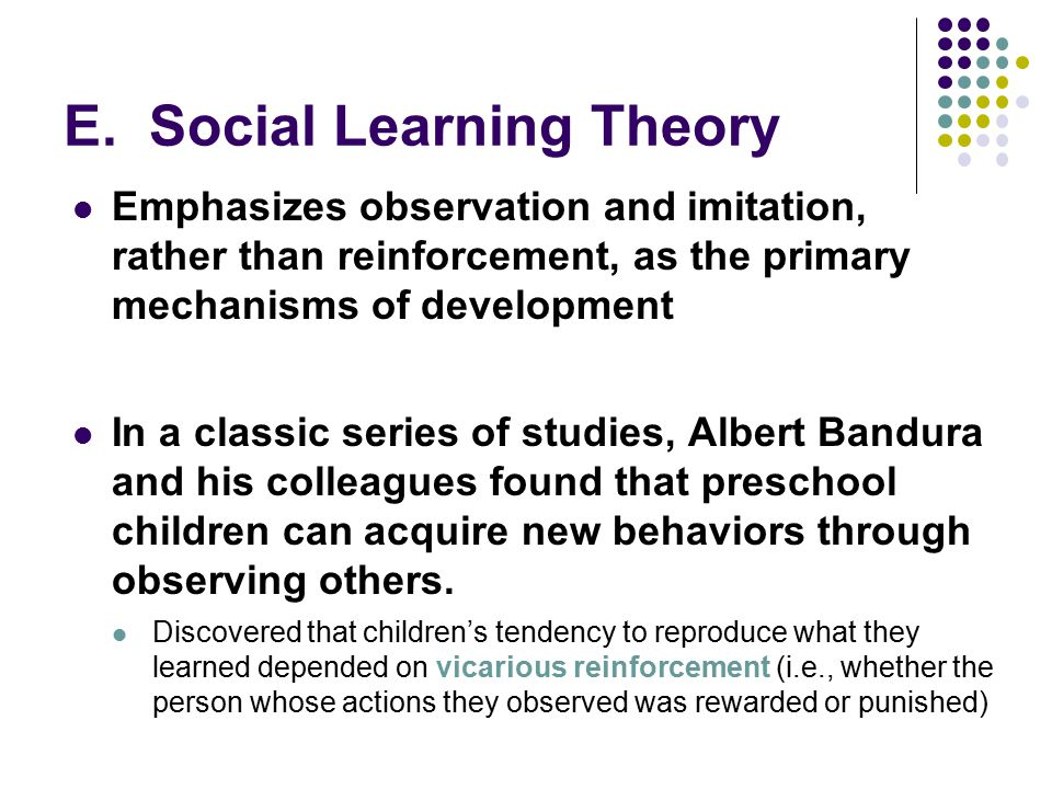 how research by bandura and colleagues Bandura and social learning theory essay  they quite precisely imitated the young lady in the film dr bandura and his colleagues  bandura's research.